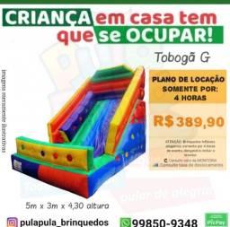 Promoção Aluguel - Tobogã Gigante + Pula Pula 3,66m