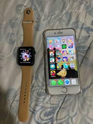 iPhone 7 rose e relógio e Apple série 3 , 42 ml