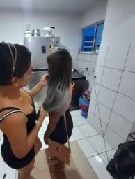aplicação de mega her + cabelo orgânico 250