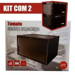 Kit com 2 Armários Organizadores! Organize sua mesa de trabalho, sapateira ou cozinha!
