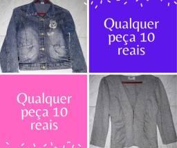 Qualquer jaqueta a 10 reais cada