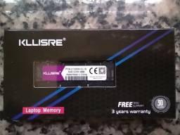 Título do anúncio: Memoria Ram DDR4 4gb / 8gb 2666 Kllisre - Notebook - Entrego e Aceito Cartões