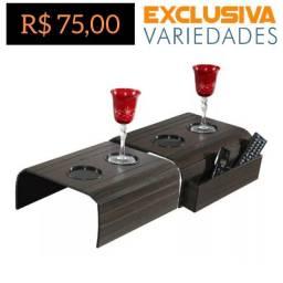 Kit Esteira P/ Sofá Com Porta Copos e Porta Controles