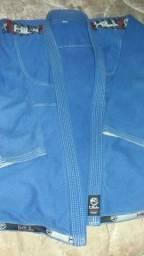 Kimono jiu-jitsu azul (tamanho A4) original HILL