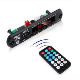 Receiver Rádio p/ Módulos com Bluetooth, USB, Aux, SD,