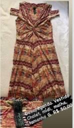 Título do anúncio: Vestido mídi Cholet Tamanho G