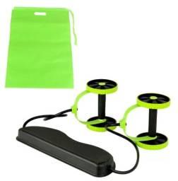Kit Musculação Fitness Elástico Roda Extensor