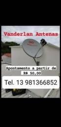 Título do anúncio: Instalação e apontamento de antena