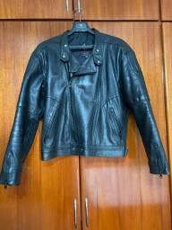 Jaqueta de couro de motociclista marca Augustus couros, n. 54-muito conservada