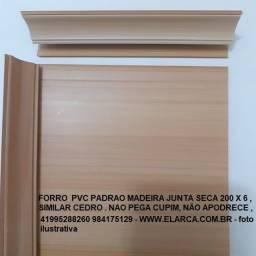 forro pvc junta seca padrao cedro  200 X 6