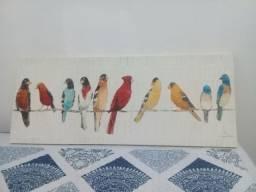 Quadro pássaros etna