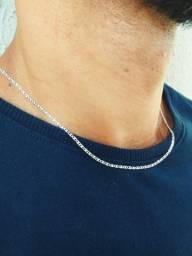 Título do anúncio: Corrente de prata piastrine 2mm, 45cm