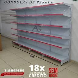 Título do anúncio: Gondolas de Parede. Gondulas Novas Direto da Fabrica. 12x R$360,00 cartão