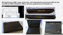 Notebook Lenovo G485 , super-conservado, com 6Gb de RAM e SSD, com Windows e Office