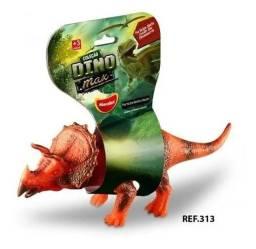 R$19,90 - Dinossauro Triceratops Vinil Borracha Macio Dino Max