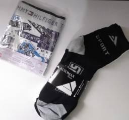 Kit de cueca boxe e meia na promoção