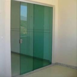 Porta de Correr 210x160 Fume ou Verde 8mm