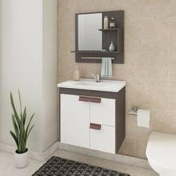 Título do anúncio: Gabinete Banheiro Tulipa com Pia e Espelheira com Suporte - MGM Móveis