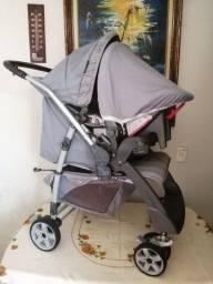 Conjunto Burigotto com Carrinho + Bebê Conforto + Base