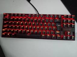 Teclado redragon kumara switch blue+mouse fazer deathadder essential