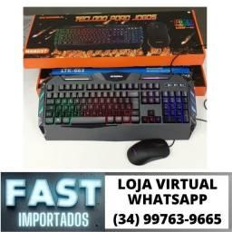 Kit Teclado + Mouse Gamer c/ Led