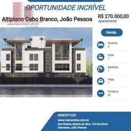 Título do anúncio: Apartamento para Venda em João Pessoa, Altiplano Cabo Branco, 3 dormitórios, 1 suíte, 1 ba