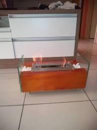 Lareira Ecológica Inox Completa Portátil Etanol/álcool