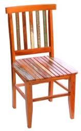 Título do anúncio: Cadeira Mineira Madeira Maciça de Demolição Peroba Rosa com Pátina