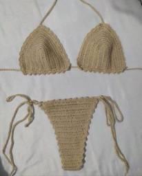 Título do anúncio: Biquíni cortininha de crochê