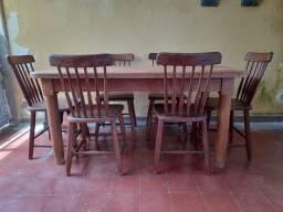 Conjunto mesa / cadeiras estilo country