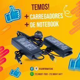 Carregadores de Notebook - Samsung, Acer, Dell, Lenovo, HP, Login, Positivo, Gateway