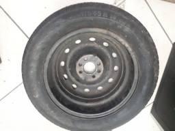 Pneu meia vida com roda 175/165 R 14 Continental