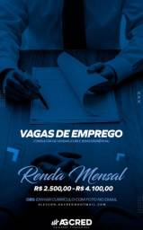 VAGAS PARA CONSULTOR DE VENDAS
