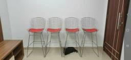 Jogo de cadeiras altas