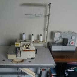 Trabalho com costura em casa