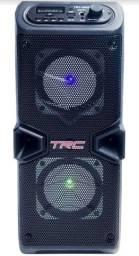 Alto-falante TRC Sound TRC 5506 portátil com bluetooth preto 110V/220V
