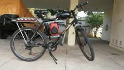 Bicicleta motorizada motor 4 tempos t-belt