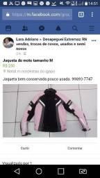 Jaqueta de moto rosa tamanho M bem conservada pouc