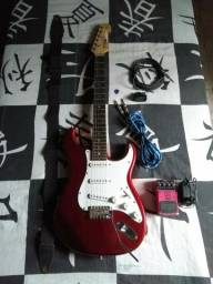 Guitarra Tagima impecável (acompanha kit completo)