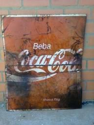 Placa metal original coca cola gigante