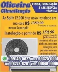 Preço de fábrica!!!Ar condicionado split 9000 e 12000 btus Novos valor já instalado
