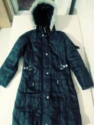 Jaqueta infantil longa tamanho 12