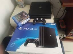 PS4 PRO 1TB + 5 Jogos