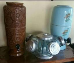 1 Baleiro e 2 Filtros de Porcelana Anos 70. LEIA a descrição!!