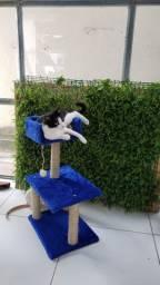 Arranhador com caminha para gatos