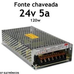 Fonte Chaveada 24v 5a 120w Bivolt Estabilizada Colméia