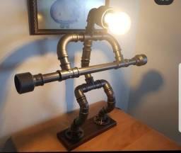 Luminária cano de PVC
