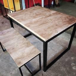 Mesa + Banco estilo Industrial