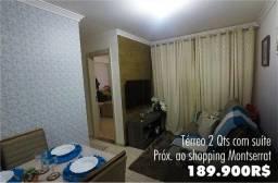 Apartamento 2 quartos com suíte e Quintal - Próx. Shopping Mont Serrat