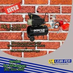Moto compressor schulz 25L + kit de Pintura Bremen 5 peças